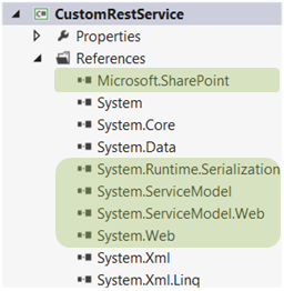 References After Adding System.ServiceModel.Web and System.Web Assemblies