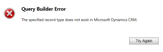 Query Builder Error